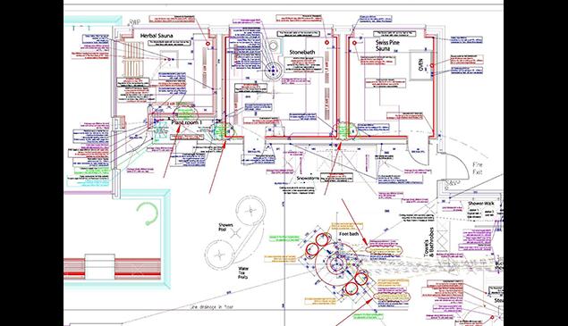 Erstellung eines Anschlussplans für alle elektrischen und mechanischen Anlagen